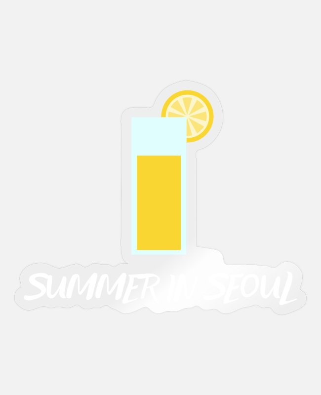 Travel Stickers - Spend the summer in the city of Seoul - Korea - Sticker transparent glossy