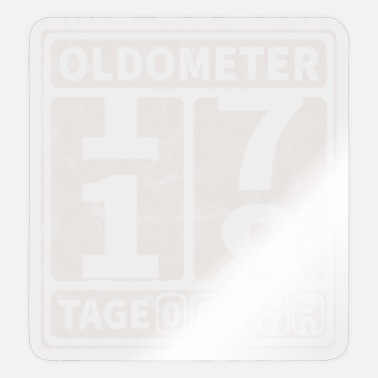 Coming Of Age Oldometer birthday 18 years of age - Sticker