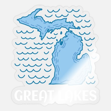 Five Great Lakes MICHIGAN STATE: Great Lakes - Sticker