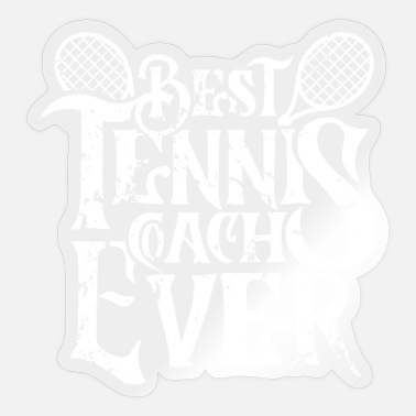 Tennis Instructor Trainer tennis tennis instructor instructor instructor - Sticker