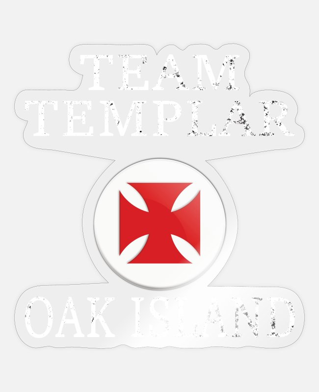 Canada Stickers - OAK ISLAND / TREASURE HUNTING: Team Templar - Sticker transparent glossy