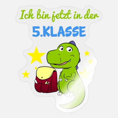 5 class Dino school change high school secondary school - Sticker