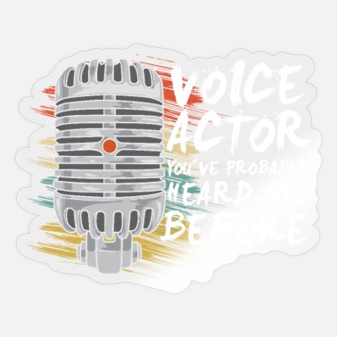Presenteren Stemacteur Podcast Presenter - Sticker