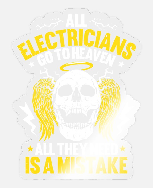 Elektroinstallateurin Stickers - Electronics technician electrician electrician - Sticker transparent glossy