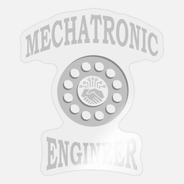 Electro-mechanical Engineers Mechanical engineer specializing in mechatronics - Sticker