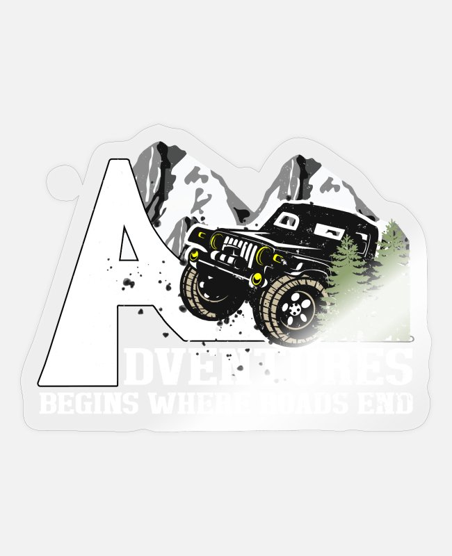Father's Day Stickers - funny jeep driver - Sticker transparent glossy