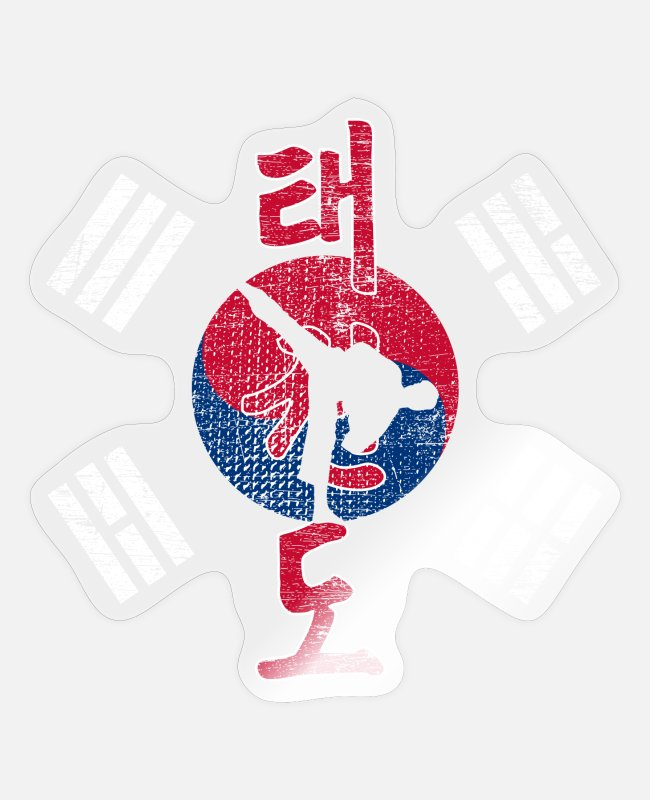 Martial Arts Stickers - Taekwondo Korea martial arts - Sticker transparent glossy