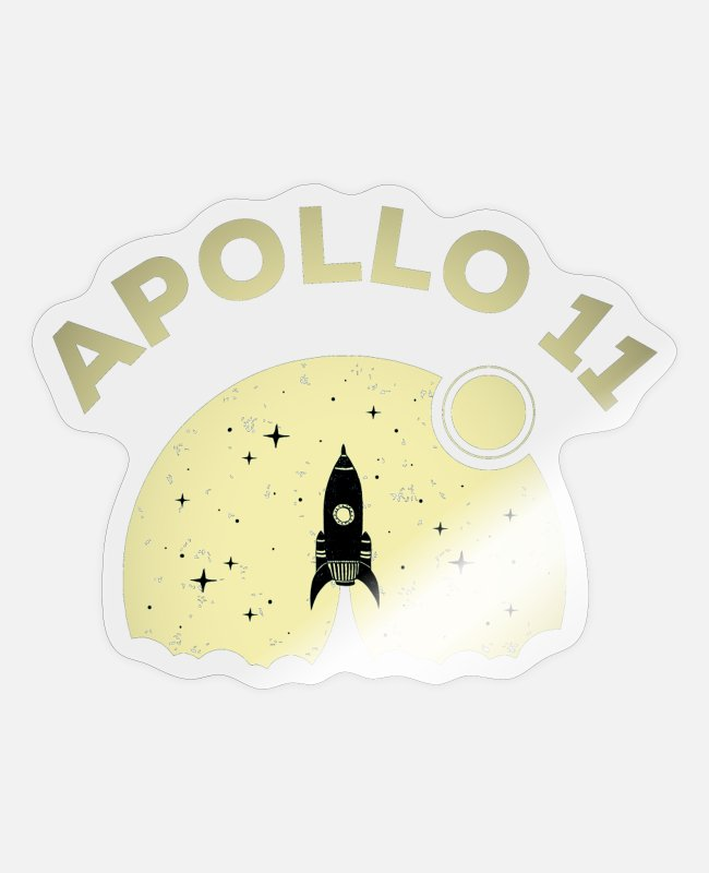 Space Stickers - Apollo 11 1969 space rocket astronaut spaceman - Sticker transparent glossy