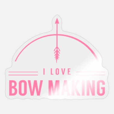 Bow Bow maker bow maker bows - Sticker