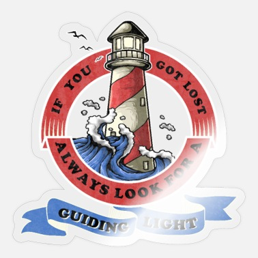 Encouraging Encouraging and inspiring lighthouse motif - Sticker