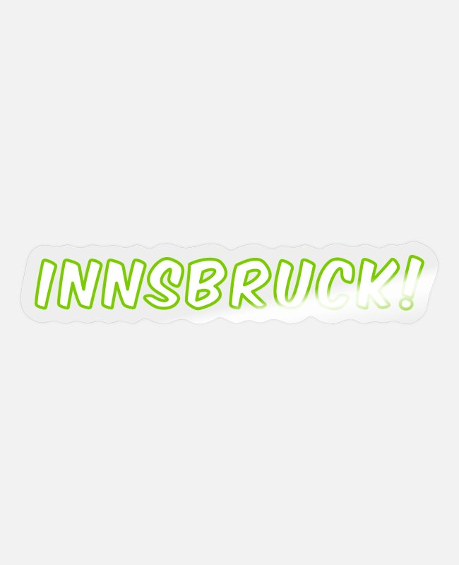 Tourism Stickers - Innsbruck city Austria - Sticker transparent glossy