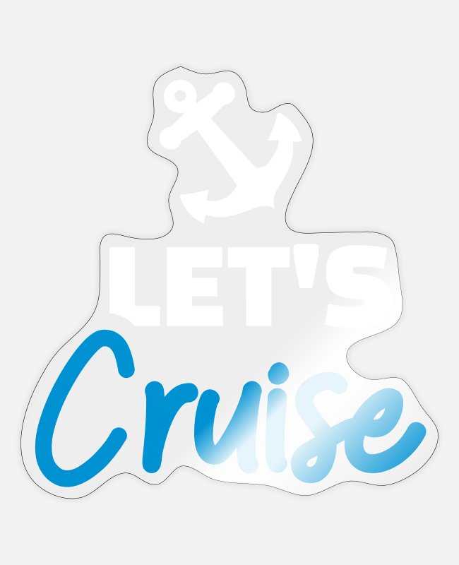 Fjord Stickers - cruise - Sticker transparent glossy
