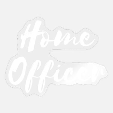Home Officer Home officer in the home office - Sticker