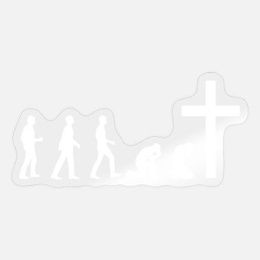 Christian Online Shop Man kneels on the cross / come to Jesus - Sticker