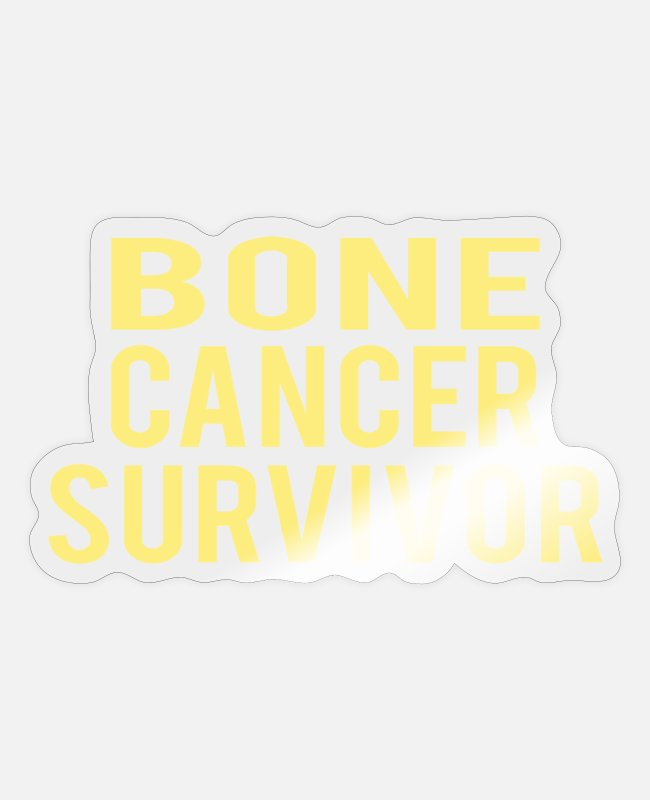Cancer Survivor Stickers - Bone Cancer: Bone Cancer Survivor - Sticker transparent glossy