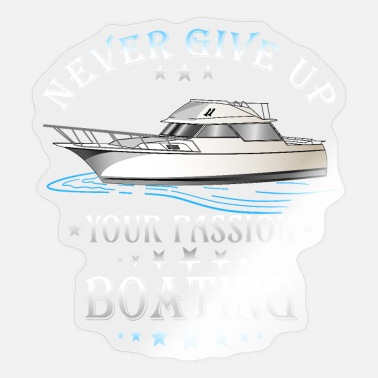 Motor Boat Boating motor boat passion gift idea - Sticker