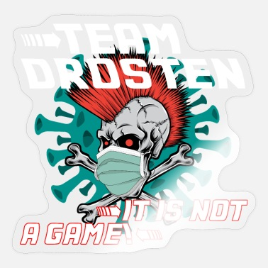 Together Against Corona together in the team against Corona Virus is not a game - Sticker
