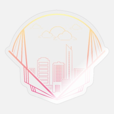 Skyline skyline - Sticker