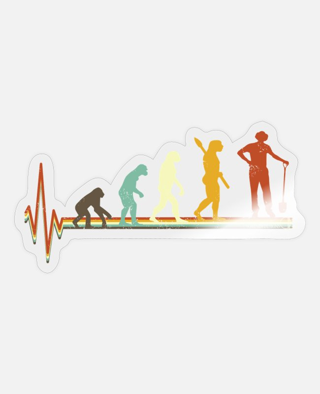 Geburtstag Sticker - Gärtner Evolution Fun Shirt - Sticker Transparent glänzend