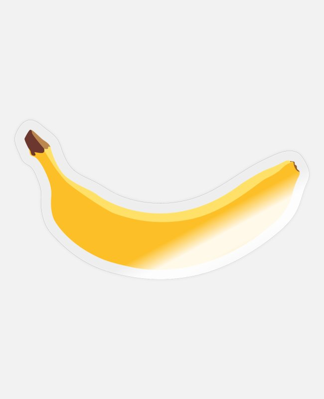 Nature Stickers - Banana - yellow - fruit - laugh - fruit - Sticker transparent glossy