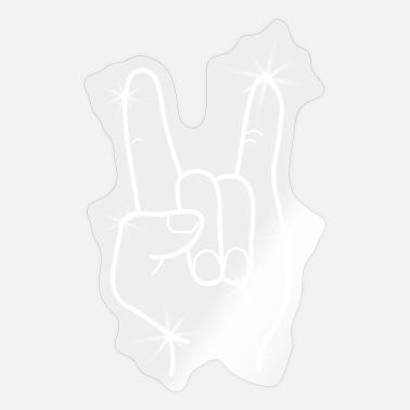Hand Devil Horns Heavy Metal Hand - Sticker
