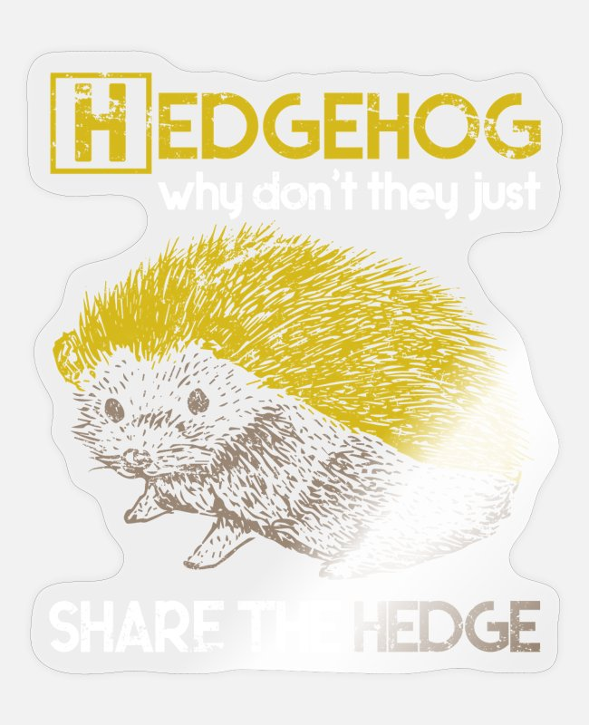 Stachel Sticker - Igel Stachel Herbst - Sticker Transparent glänzend