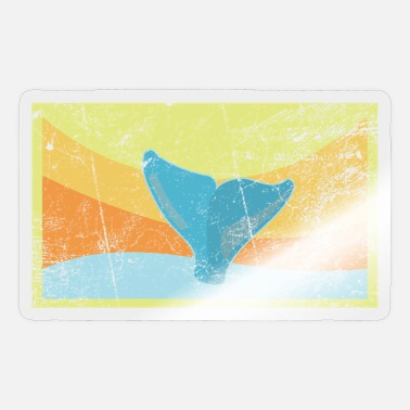 Tail Fin Sperm whale tail fin - Sticker