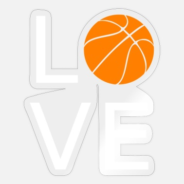 I Love Basketball I love basketball - Sticker