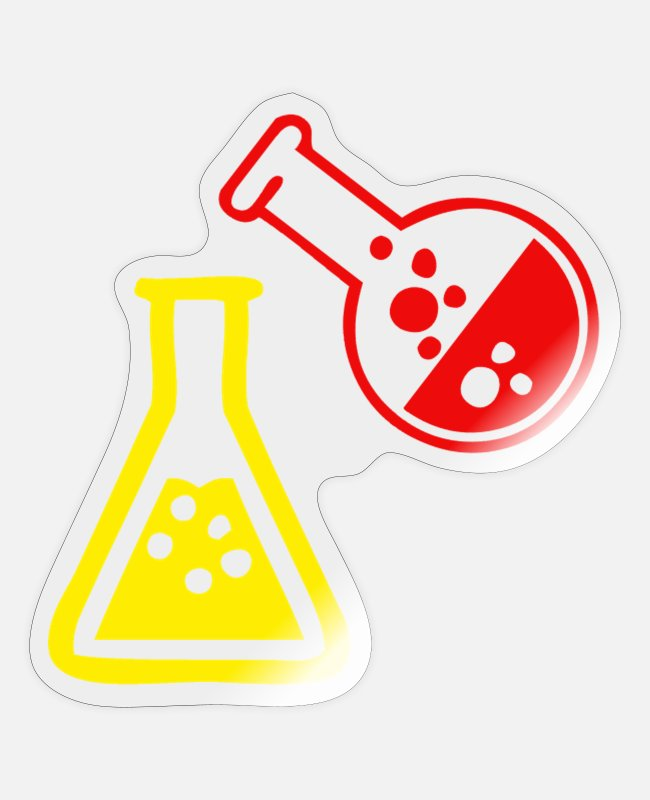 To Research Stickers - Erlenmeyer flask laboratory gift Uni Lab Student - Sticker transparent glossy