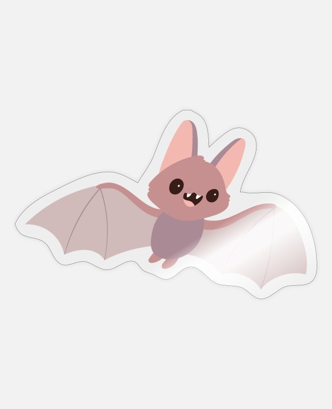 Bats Stickers - bat - Sticker transparent glossy