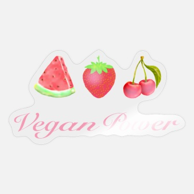 Powerbutton Vegan Power Summer Fruit - Pegatina