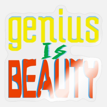 Genius genius - Sticker
