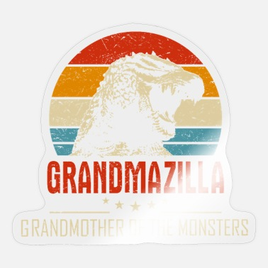 Hilarious Grandmazilla Oma van The Monsters Hilarious Din - Sticker
