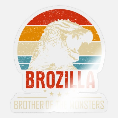 Hilarious Brozilla Broer van The Monsters Hilarious Dinosau - Sticker