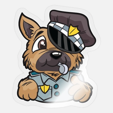 Police Dog Police Dog Police Dog English policeman Bobby - Sticker