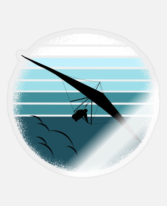 Air Sports Stickers - Hang glider hang glider Delta glider hang glider - Sticker transparent glossy