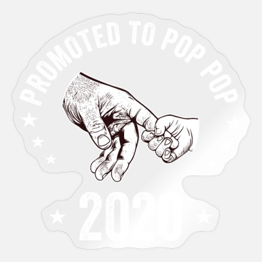 Pop Mens New Pop Pop - Promoted To Pop Pop 2020 - Sticker
