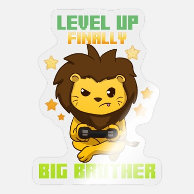 Leveling Up Big Brother Level Up Big Brother Lion Big Brother - Sticker