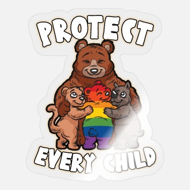 Child Protection PROTECT EVERY CHILD mother love gay bear LGBTQ - Sticker