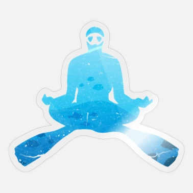 Oz Yoga Freediver Duiken Freediving Apneu Zee Oz - Sticker