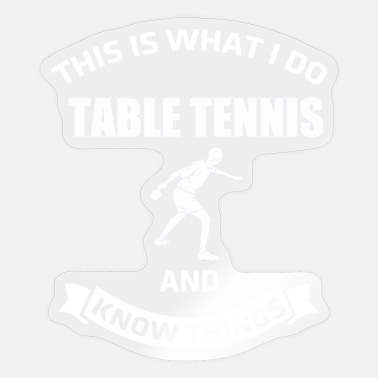 Presenteren Tafeltennis dit is wat ik presenteer - Sticker
