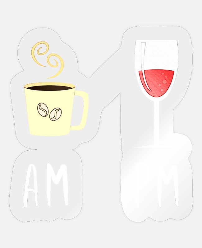 Wine Lover Stickers - Wine wine drinker wine glass gift corkscrew - Sticker transparent glossy
