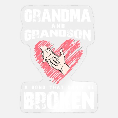 Grandchild Grandma and grandchild - Sticker