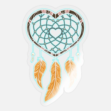 Jewelry Dream catcher feather jewelry Indian jewelry - Sticker