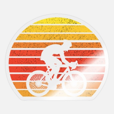 Road Vintage Bicycle Retro Sunset - Sticker