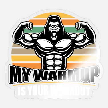 Body Building Body Building Bodybuilder Warmup Workout - Sticker