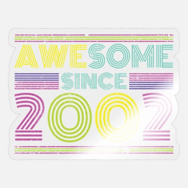 Coming Of Age Awesome 2002 birthday retro coming of age gift - Sticker