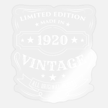Since 1920 Limited Edition Made In 1920 Vintage Birthday Gift - Sticker