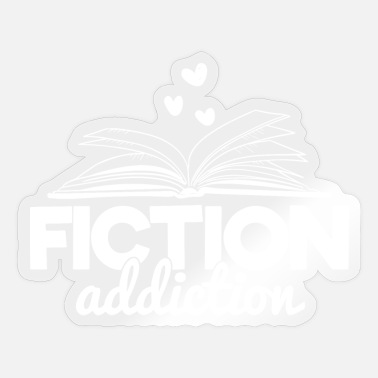 Fiction Book Books Reading Fiction Fiction Gift - Sticker