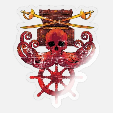 Octopus Octopus Pirate Gift Octopus - Sticker
